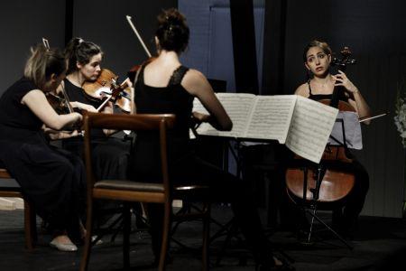 Quatuor Zaide spiller på Hindsgavl Festival 2018. Foto Mathias Løvgreen