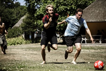 Fodbold på Hindsgavl Festival 2018. Foto Mathias Løvgreen