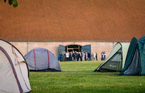 Camping møder slot